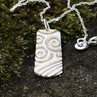 Tag Swirl Necklace