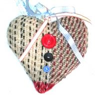 Lavender Heart with button